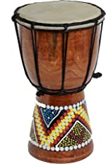 DJEMBE SCHLAGZEUG 20cm Höhe Holz Professionell Bongo Fairtrade