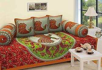 Stop N Shopp New Design Pure Cotton Jaipuri Diwan Set Super Combo Multi Color