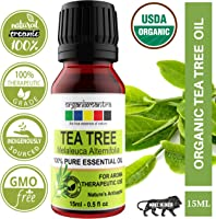 Organix Mantra Tea Tree Essential Oil For Skin, Hair, Face, Acne Care, 15Ml Pure, Natural And Undiluted Therapeutic...