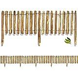 Floranica® Rollzaun aus Holz in 8 Größen, Integrierte Pfosten, imprägnierter, getackerter Steckzaun, gut gespaltene Staketen, sichere Spitzen, Lattenabstand:4-6 cm, Höhe:50 cm hoch / 1000 cm lang