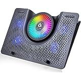 """KLIM Nova + Refroidisseur PC Portable - 11"""" à 19"""" + Éclairage RGB + Support Ordinateur Portable Gaming + Ventilateur USB…"""