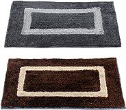 Story@Home Handicraft Style Eco Series 2 Piece Cotton Blend Door Mat Set - 40 x 60 cm or 16