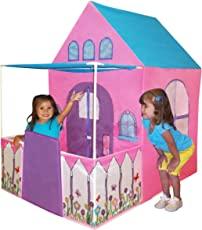 Kids Adventure Polyester Victorian Princess Castle Play Tent, 121.9x91.4x137.2cm (Pink, Purple and Teal)