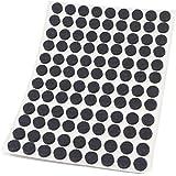Adsamm® | 108 x viltglijders | Ø 10 mm | zwart | rond | 3,5 mm dikke zelfklevende vilten meubelglijders van topkwaliteit