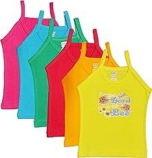 UCARE Cotton Printed Multi Color Slip Girls & Kids (2008-Packof6)