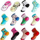 Lictin 14 Pares Antideslizante Calcetines Calcetines Calcetines de niño Talla 2-3 años de Edad los niños Surtidos Animal Prin