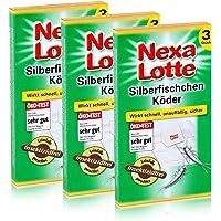 3 x 3 (9 Stk.) Nexa Lotte Silberfischchen-Köder Leim-Falle hochwirksam
