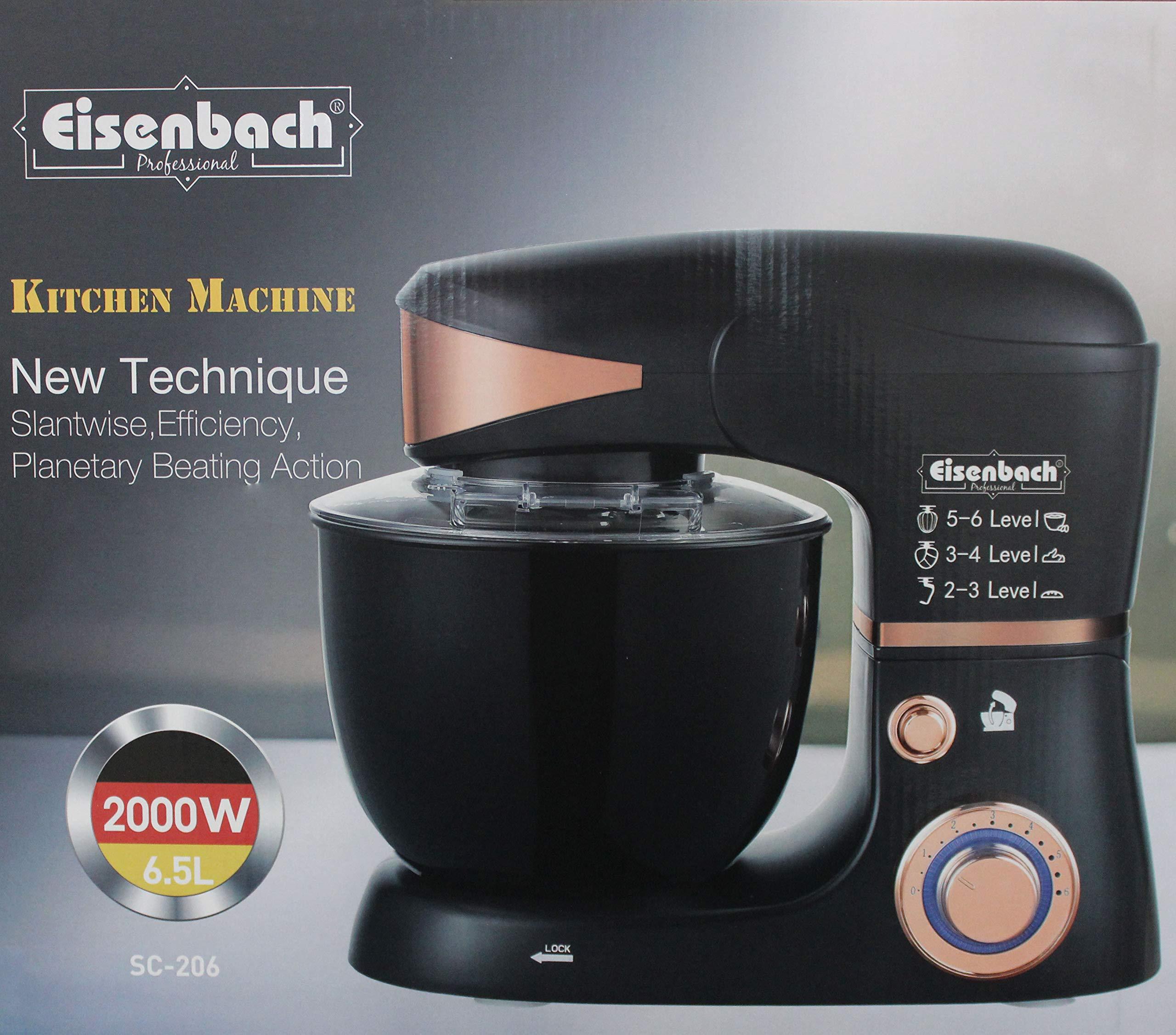 Eisenbach-Germany-LED-2000W-Teigmaschine-65L-Kchenmaschine-Knetmaschine-Rhrmaschine-Standmixer-SC-2066