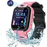 Vannico Smartwatch Niño, Reloj Inteligente Niña Ip68, LBS SOS Llamada Bidireccional, Smartwatch Phone con Voice Chat Cámara J