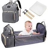 Baby Wickeltaschen, Uiter Tragbar Baby Reisebett Krippe Wickeltasche Rucksack Multifunktions wasserdicht mit Wickelauflage Te