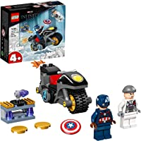 LEGO Super Heroes Marvel Scontro tra Captain America e Hydra, Giocattolo Supereroi per Bambini di 4 Anni con Moto…