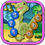 Kinder Dinosaurier beitreten und verbinden die Punkte Puzzles - Rex lehrt die ABC-Zahlen-Formen und zählen geeignet für Kleinkinder und junge Vorschulkinder im Alter von 2 +