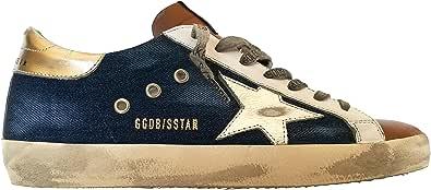 Golden Goose Sneakers Uomo Vintage Superstar GMF00101.F000351.80311 Blu Jeans