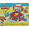 Play-Doh Caja registradora de juguete para niños de 3 años en adelante con divertidos sonidos, accesorios de comida y 4 color
