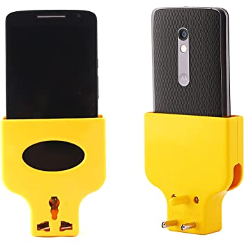 NOVICZ Universal Mobile Charging Wall Stand Charger For All Mobile Phones (Yellow or Red)