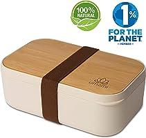 Umami® ⭐ Lunch Box EcoloChic™ | Boîte Bento Écologique en Fibre De Bambou | 4 Couverts Inclus | 1000ml | Hermétique |...