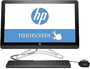 HP 24-e057ng 60,45 cm (23,8 Zoll Full HD-IPS Touchscreen) All-in-One Desktop PC (Intel Core i5-7200U, 8GB RAM, 1TB HDD, Nvidia GeForce 920MX, Windows 10 Home 64) grau