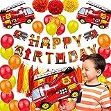 Décoration D'anniversaire Pour Enfants Pompiers Décoration De Fête Pompier Fête D'Anniversaire Décoration Garçons Ballons Cam