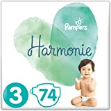 Pampers Harmonie Taille3 74Couches 6-10kg - Pack de 2
