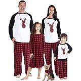 SleepytimePJs Pigiama Plaid di Bufalo di Cervo Invernale da Abbinare alla Famiglia di Natale