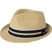 Comhats Tribly - Cappello di paglia unisex da uomo, modello Fedora estate