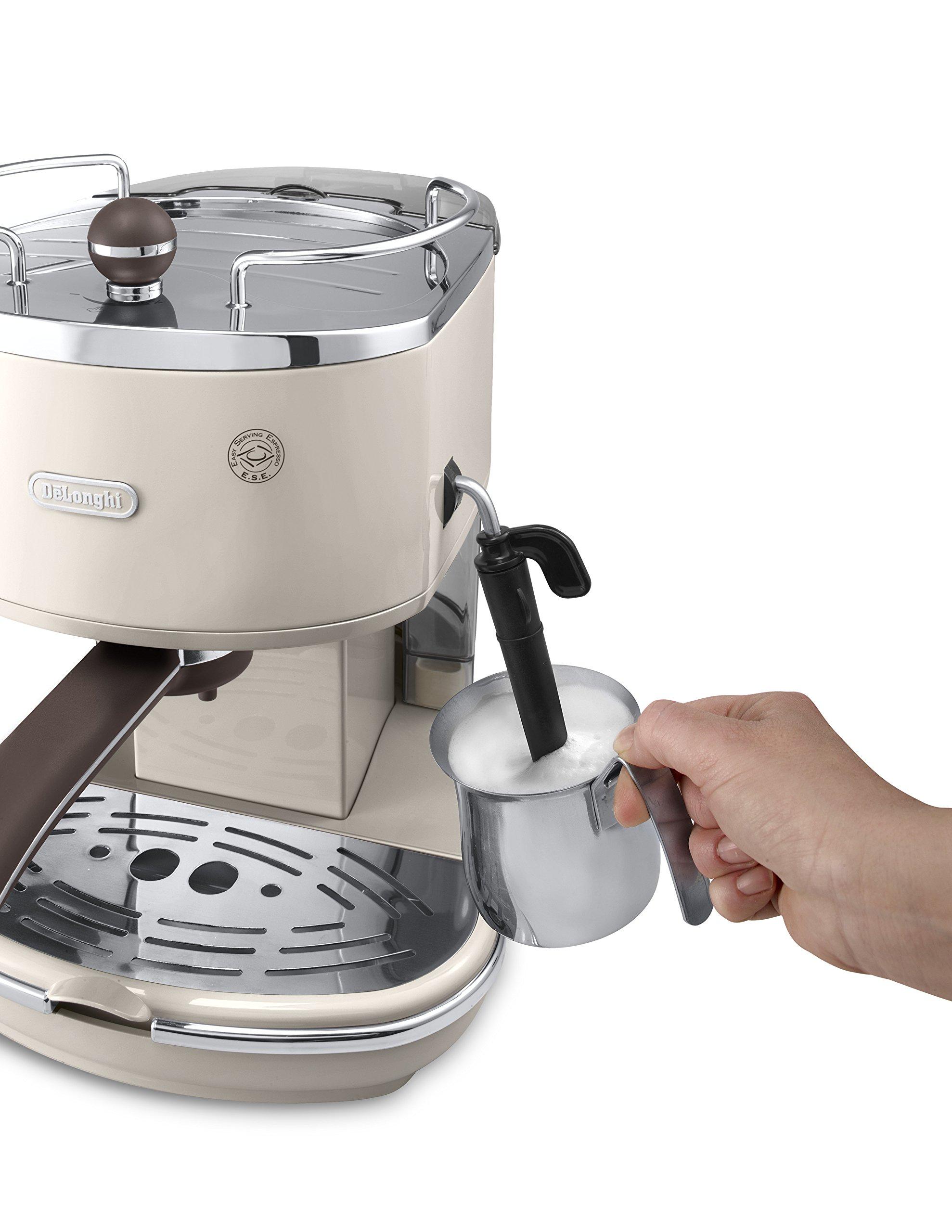 De'Longhi Icona Vintage ECOV 311.BG Macchina da Caffè Espresso Manuale e Cappuccino, Caffè in Polvere o in Cialde E.S.E… 2 spesavip
