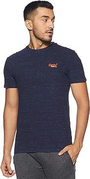 Superdry Men's Orange Label Vntge Emb S/s Tee Kniited Tank Top, (Montana Blue Space Dye Xw5), Large