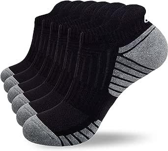 coskefy Trainer Socks Cushioned Running Socks Ankle Socks for Men Women Ladies Cotton Sports Socks Low Cut Athletic Socks (6 Pairs)