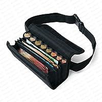 Securina24 - Sacoche - Porte Monnaie et Billets portefeuille pour serveur comprenant un monnayeur à 8 compartiments avec…
