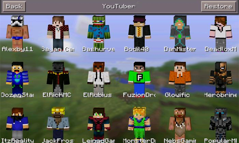 Skins Youtubers For Minecraft Amazonde Apps Für Android - Arazhul skin fur minecraft pe