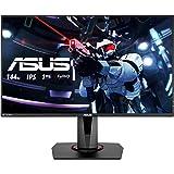 ASUS VG279Q 27'' FHD (1920 x 1080) Gaming Monitor per PC, IPS, 144 Hz, 1 ms MPRT, DP, HDMI, DVI, FreeSync, Filtro Luce Blu, Flicker Free, Certificazione TUV