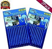 Sani Sticks Drain Cleaner Cleaning Sticks Sewage Decontamination Deodorant The Kitchen Toilet Bathtub 2 Pack (24 Sticks)