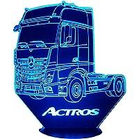 MER. ACTROS, Lampada illusione 3D con LED - 7 colori.