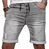 Sublevel Herren Jeans Shorts Kurze Hose Bermuda Sommer Short Sweathose Slim B112