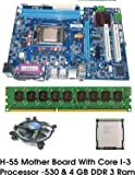 Unknown Intel Core I3 540 3.06 GHz + Intel H55 Chipset Motherboard + 4 GB DDR3 RAM