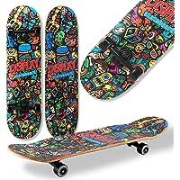 WeLLIFE Skateboard Completo Doppia Grafica per Principianti RGX Double Triangle Skate Board in Legno 79x20 cm in 9…