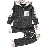 Babyjongen Meisje Mode Outfits Kleding Sets Hoodie Broek en Topjes Mooie Sweatshirt Cadeauset, 0-36 maanden, 2 stuks