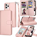 Tekcoo Wallet Case for iPhone 11 / iPhone11 (6.1 inch) 2019 Luxury ID Cash Credit Card Slots Holder Carrying Pouch Folio Flip