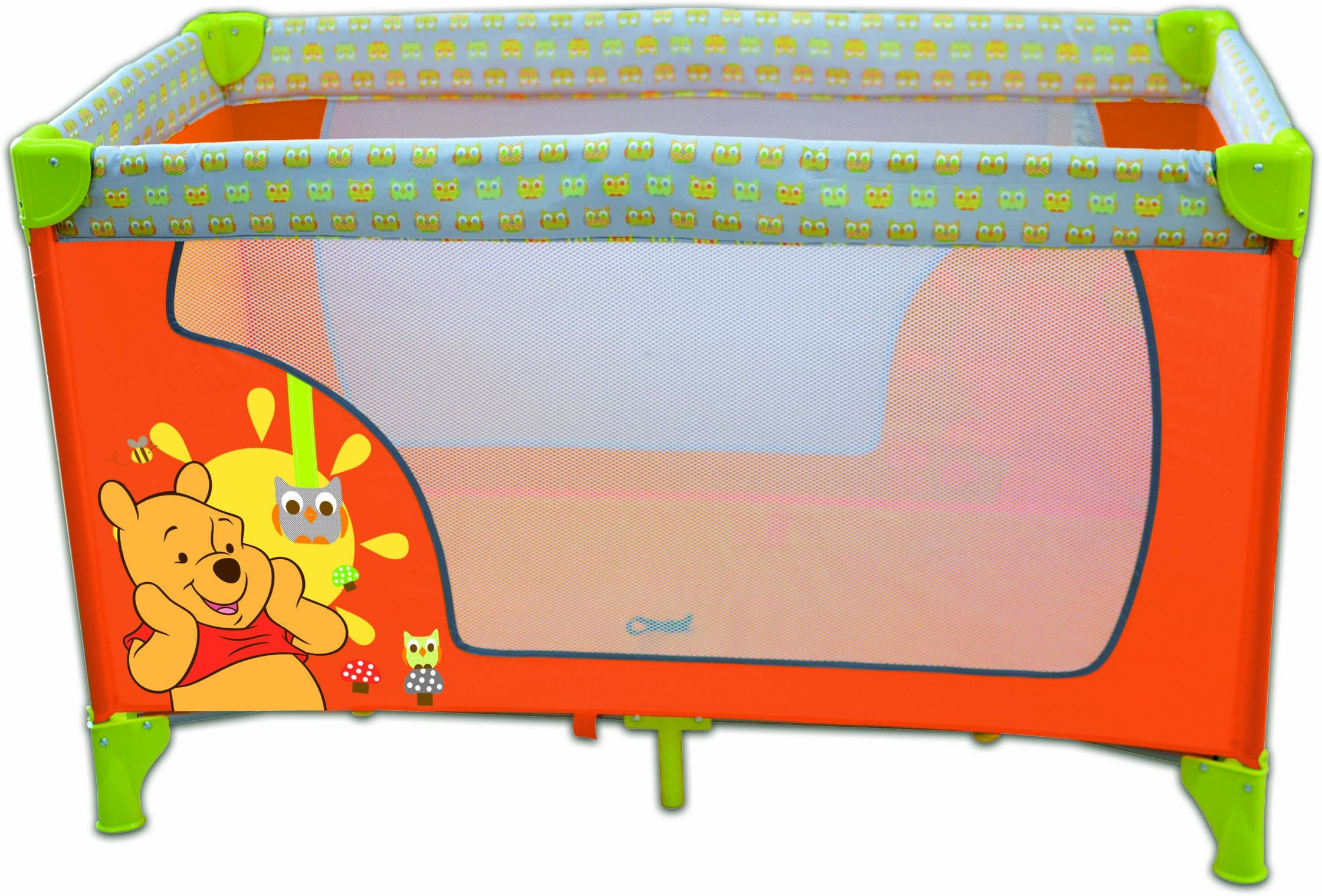 Disney Baby Baby Travel cot  Winnie the Pooh Disney Suitable for children up to about 36 moths Easy to open/close and practical carrying sack Ventilation net and paddet base 1