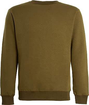imporio 11 Men Classic Plain Crew Neck Fleece Sweatshirt Mens Casual Sweatshirt Jumper Top UK Size S-5XL
