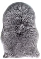 Yaer Schaffell Weiß Teppich, 60 x 90 cm Lammfell Weiß Faux lammfell Lammfellimitat Teppich Sofa Matte Fellteppich Fell Nachahmung Wolle Bettvorleger