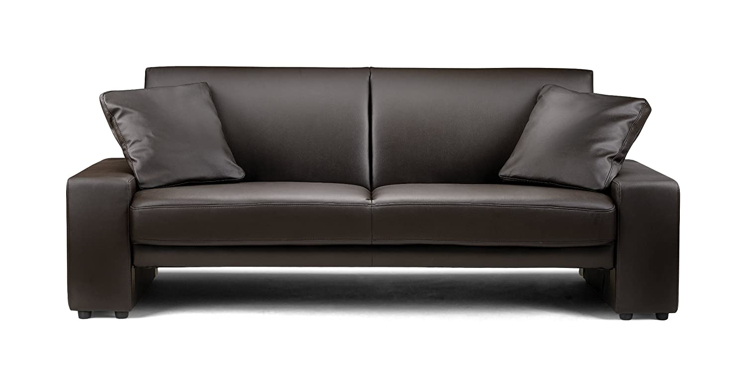 Julian Bowen Faux Leather Supra Sofa, Brown: Amazon.co.uk: Kitchen U0026 Home Part 47