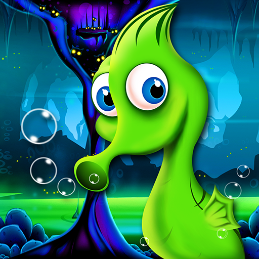 Seahorse Crazy Underwater Adventure : The Ocean Deep Water Danger Escape - Gold