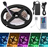 Tiras LED, Adoric Luces LED RGB 5050 con Control Remoto de 44 Botones y Caja de Control (One pack)