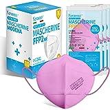 KARAEASY Mascherine ffp2 Rosa Acceso Certificate Ce Made In Italy Confezione da 10 Pezzi PFE ≥95%