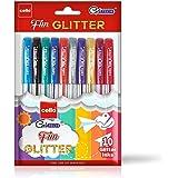Cello Geltech Fun Glitter Gel Pen (Pack of 10 pens in Multicolour ink) | Glitter gel pens for art lovers & kids…