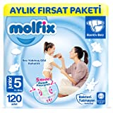 Molfix Bebek Bezi 5 Beden Junior Aylık Fırsat Paketi 120 Adet