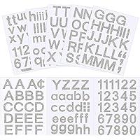 202 Pcs 8 Feuilles Ensemble Auto-Adhésif de Lettres et de Chiffres en Vinyle, Autocollant de Numéros pour Boîte aux…
