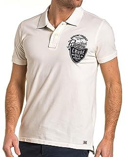 b4696a0ea353 Petrol Industries - Lot de 2 Tee-Shirts Homme Basic Blanc col V ...