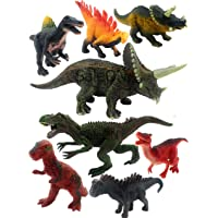 SaleON Set of 8 Dinosaur Toy Action Figure Animal Model Collection Learning & Educational Kids Gift Jurassic Sickle…